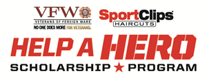 VFW and Sport Clips Help a Hero scholarship logo